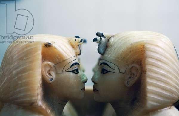 Painted alabaster canopic jars, Treasury of Tutankhamun, Dynasty XVIII, Detail