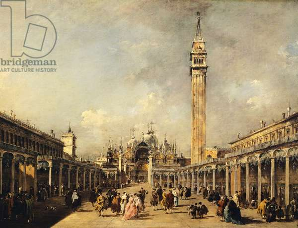 Feast of Ascension in Piazza San Marco in Venice by Francesco Guardi (1712-1793), oil on canvas, 61x91 cm