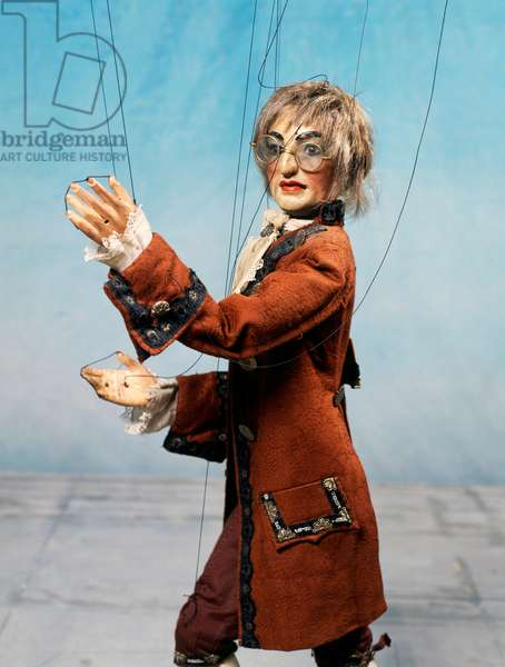 Alessandro Volta, character from ballet Excelsior, marionette by Carlo Colla and Sons Marionette Company, Milan, Italy