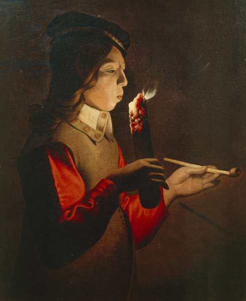 Young smoker, 17th century, Georges de La Tour's studio (1593-1652)