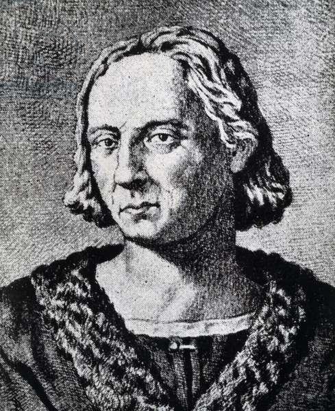 Portrait of Christopher Columbus (1451-1506), engraving, 16th century