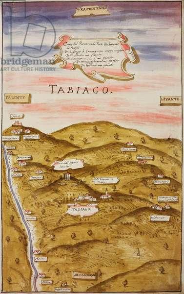 Parish territory of Tabiago (Tabiago di Nibionno), parish of Incino Erba, 1610-1611, designed by Aragone Aragonio on occasion of pastoral visit of Cardinal Federico Borromeo