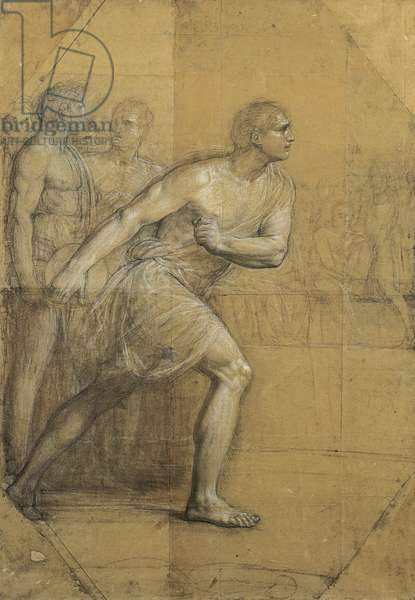 The Discus Thrower, by Andrea Appiani, drawing