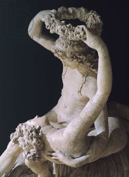Detail from statue of Venus crowning Love by Antonio Canova (1757-1822), plaster model, 1789