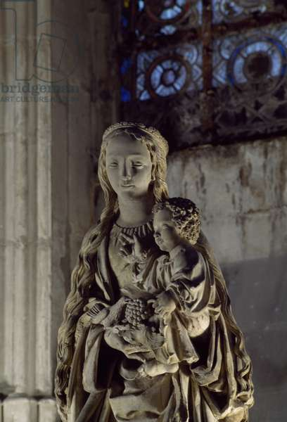Madonna and Child statue in Basilica of St Urban, Troyes, Champagne-Ardenne, France