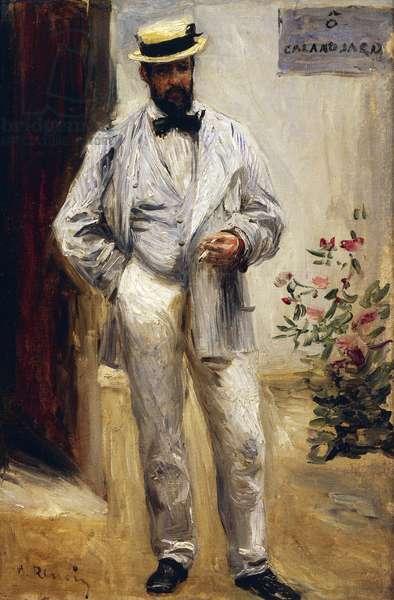 Portrait of Charles Le Coeur, by Pierre-Auguste Renoir, 1874, 1841-1919