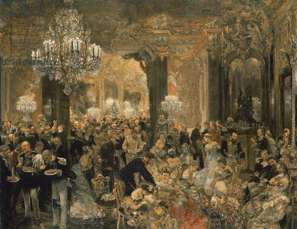 Dinner at the Ball, 1878 (oil on canvas)