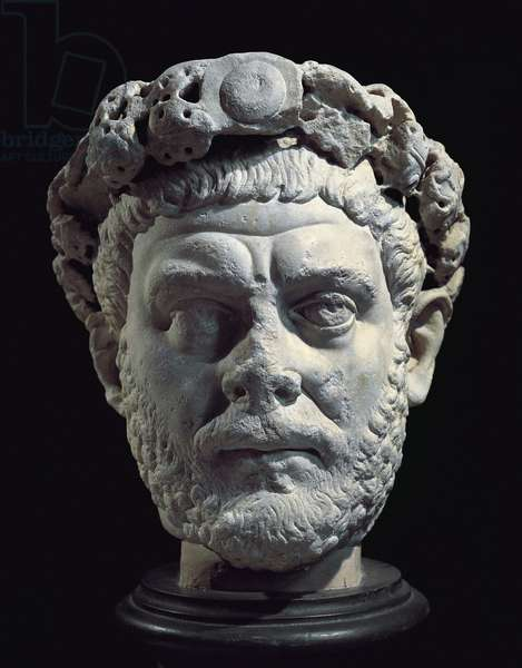 Marble head of Emperor Diocletian, from Izmit (ancient Nicomedia), Turkey
