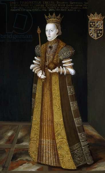 Portrait of Margaret Leijonhufvud (1516-1551), Queen of Sweden, by Johan Baptista van Uther, oil on canvas, 195x121 cm
