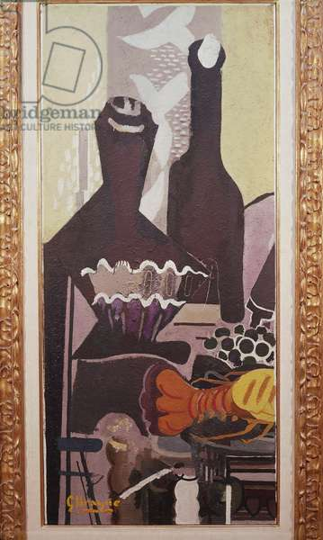 Still life with lobster, by Georges Braque (1882-1963), oil on canvas. France, 20th century.