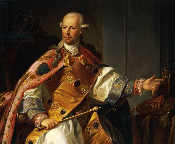 Portrait of Leopold II of Habsburg-Lorraine (Vienna, 1747-1792), Painting by Josef Kiss and Friedrich Mayrhofer, detail