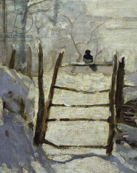 The Magpie (detail), 1868-1869 (oil on canvas)