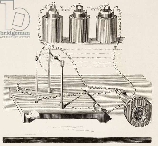 Receiver unit for photophone by Alexander Graham Bell, engraving from L'Illustrazione Italiana, No 42, October 17, 1880