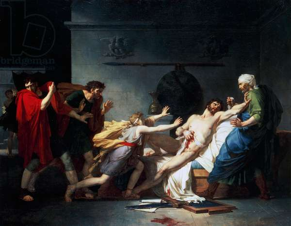 The death of Cato the Younger also known as Uticensis, 1797, by Pierre Guerin (1774-1833), oil on canvas, 144x111 cm