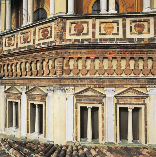 Italy, Lombardy, Milan, church of Santa Maria delle Grazie, apse by Bramante, 1492, detail