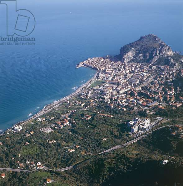 Italy, Sicily Region, Province of Palermo, Aerial view of Cefalu (photo)