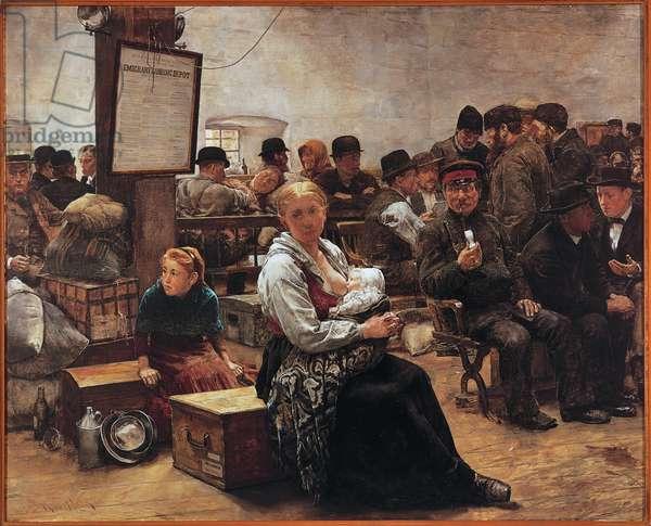 """""""La terre promise"""" peinture de Charles Frederick Ulrich (1858-1908)"""