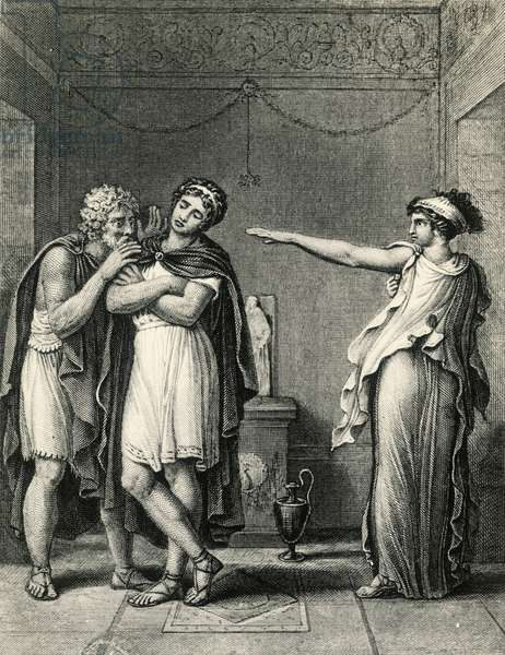 Andromache, from the Aeneid by Virgil, by Girodet (1767-1824), Drawing