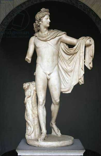 Statue known as Apollo Belvedere, copy after Greek bronze original of the 4th century B.C. (marble)