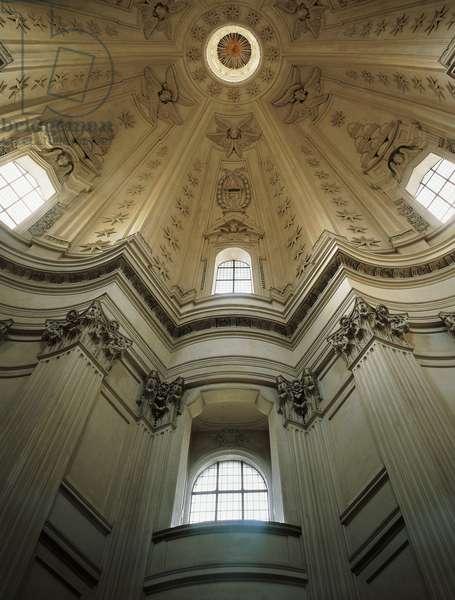 Detail of interior of dome of Church of St Yves at La Sapienza, architect Francesco Borromini (1599-1667), Rome, Italy, 17th century