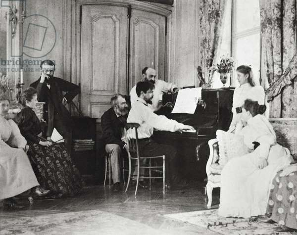France, Saint-Germain-en-Laye, Claude Debussy and family at their Luzancy house