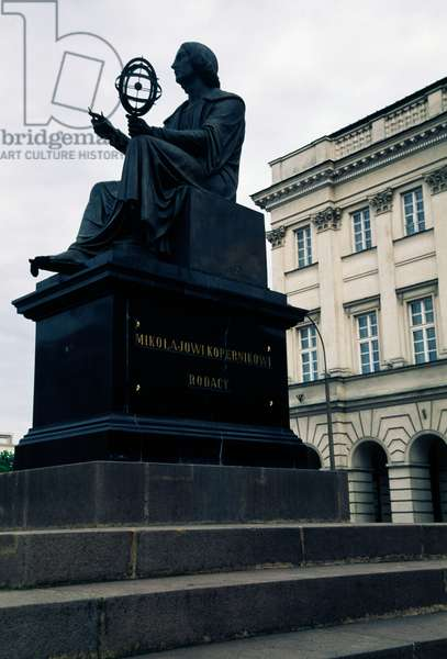 Bronze statue of Polish astronomer Nicolaus Copernicus (Torun, 1473-Frombork, 1543), Warsaw's Old Town (UNESCO World Heritage List, 1980), Poland