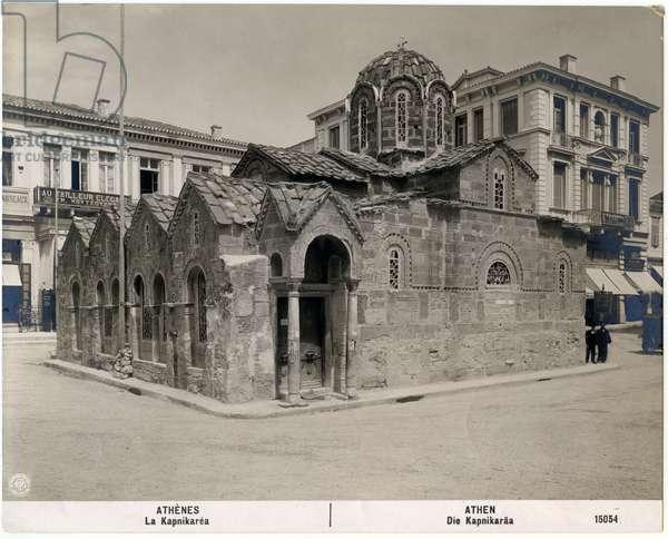 Church of Panaghia Kapnikarea, Athens, Greece, photograph by NPG, Neue Photographische Gesellschaft, Berlin-Steglitz, circa 1900-1910
