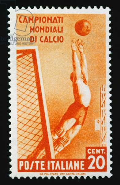 Postage stamp for 1934 FIFA World Cup, 20-cent stamp, Italy, 20th century