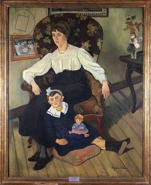 France, Lyon, Painted portrait of Suzanne Valadon's Niece