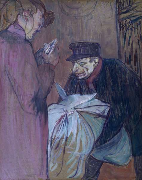 brothel laundryman, 1894, by Henri de Toulouse Lautrec (1864-1901), oil on cardboard, 58x46 cm