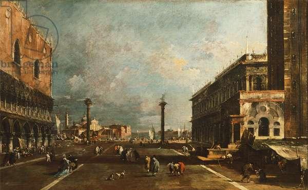 Little St Mark's Square towards San Giorgio, Venice by Francesco Guardi (1712-1793), oil on canvas, 45x72 cm