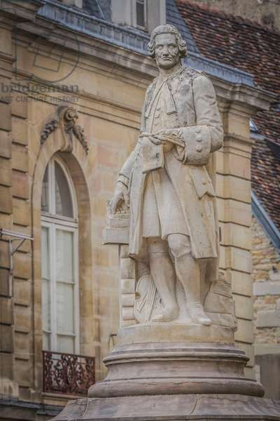 Statue of French composer Jean-Philippe Rameau (1683-1764), Dijon, Burgundy, France, 17th century, Detail