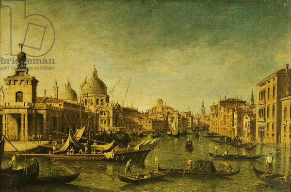 View towards tip of Dogana in Venice, from School of Francesco Guardi, 18th Century
