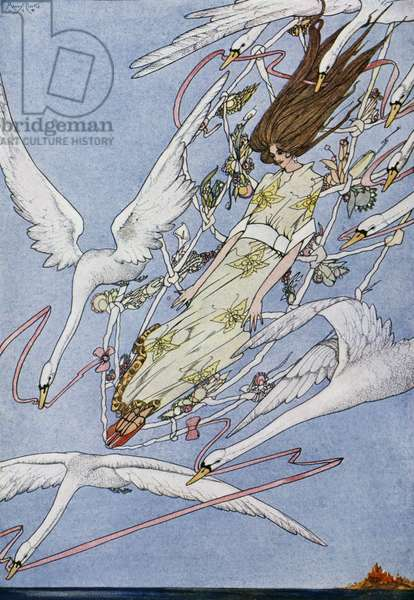 The wild swans, fairy tale by Hans Christian Andersen (1805-1875), illustration by Harry Clarke (1890-1931)