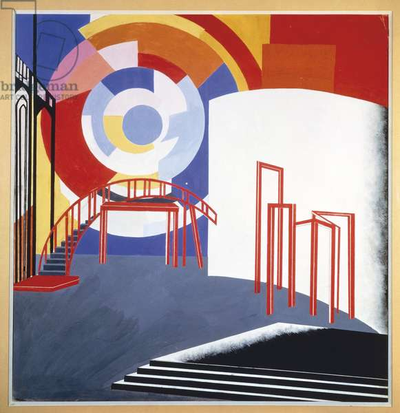 Sketch for a scenic design, c.1924 (gouache on paper)