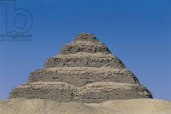 Egypt, Memphis, Saqquara necropolis, pyramid complex of Djoser (Zoser), Pyramid of Djoser