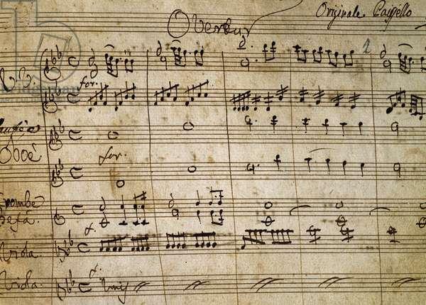 Autograph music score of Il Duello comico (Comic Duel), 1774, by Giovanni Paisiello (1740-1816)