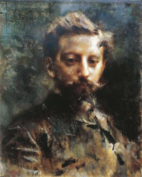Portrait of Primo Levi by Luigi Conconi (1852-1917), oil on canvas