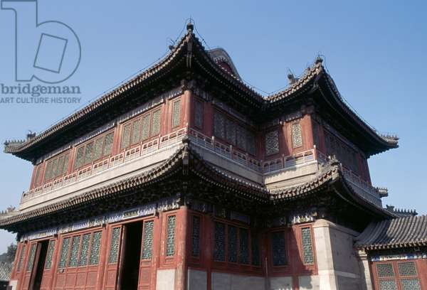 Rear view of Opera House, 1891-1896, Garden of Virtue and Harmony, Summer palace (Unesco World Heritage List, 1998), Beijing, China, 19th century (photo)