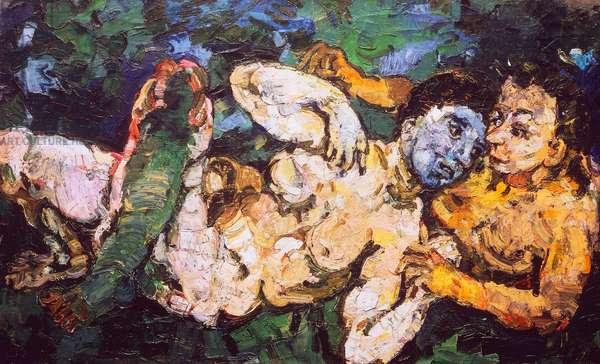 The pagans, 1918, by Oscar Kokoschka (1886-1980), oil on canvas. Austria, 20th century.