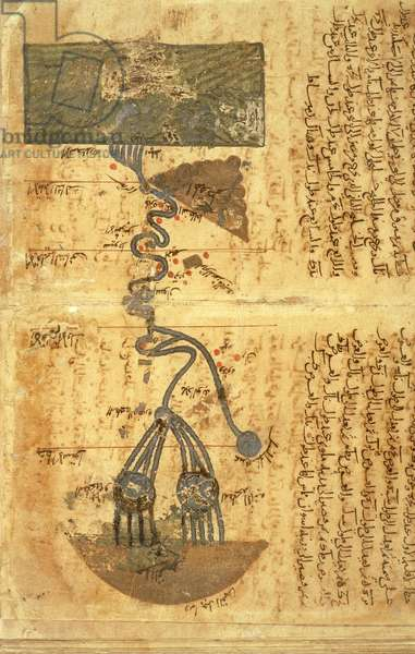 The Course of the River Nile (vellum)