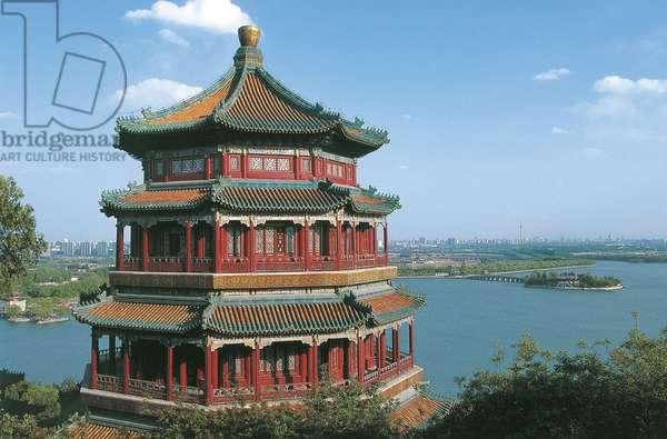 China - Beijing. Imperial Summer Palace (UNESCO World Heritage List, 1998). Pavilion