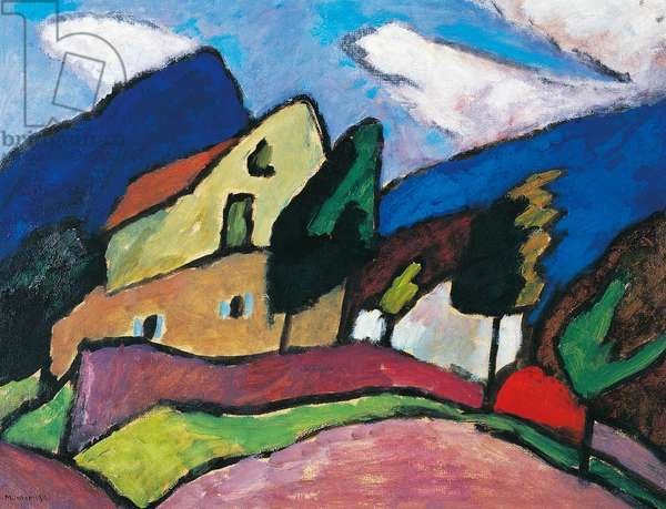 Wind and clouds, 1910, by Gabriele Munter (1877-1962), oil on canvas, 38x59 cm. Germany, 20th century.