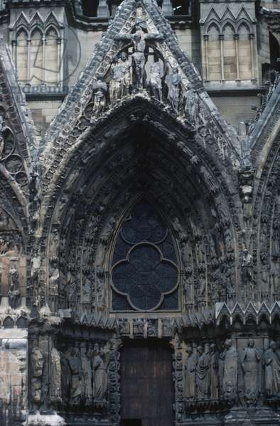 France, Champagne-Ardenne, Reims, Gothic Cathedral of Notre-Dame, detail