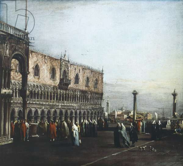 View of square towards Ducal Palace by Francesco Guardi (1712-1793), oil on canvas, 787x1155 cm