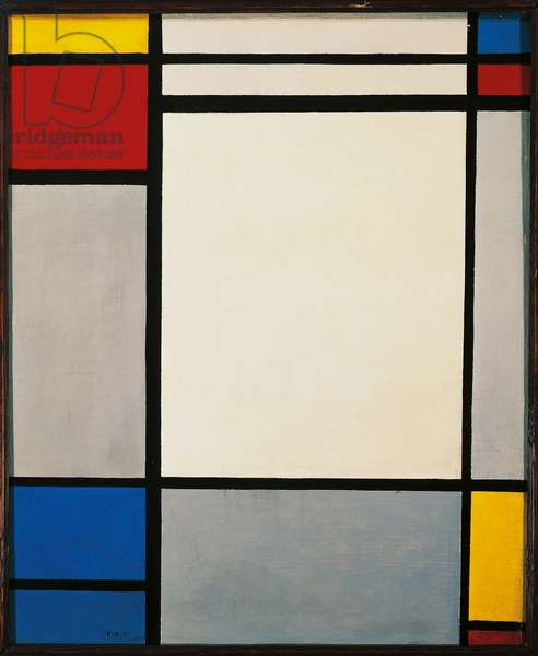 Composition, 1921, by Piet Mondrian (1872-1944). Netherlands, 20th century.