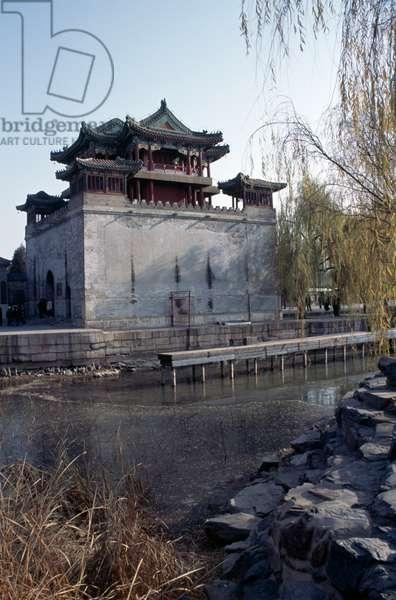 Wenchang pavilion, Summer palace (Unesco World Heritage List, 1998), Beijing, China, 19th century (photo)