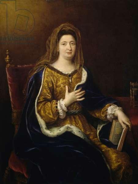 Portrait of Madame Francoise d'Aubigne, Marquise of Maintenon, 1694, painting by Pierre Mignard, oil on canvas, 128x97 cm