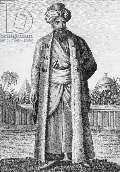 Muhammad Ali Pasha (1769-1849), Albanian military commander and khedivate of Egypt, engraving