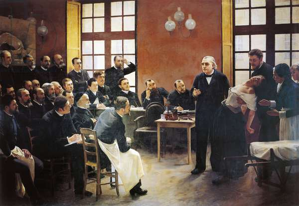 A Clinical Lesson with Doctor Charcot at the Salpetriere, 1887 (oil on canvas)